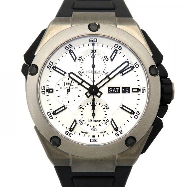 IWC IWC インヂュニア ダブルクロノグラフ チタニウム IW386501 シルバー文字盤 メンズ 腕時計 【新品】