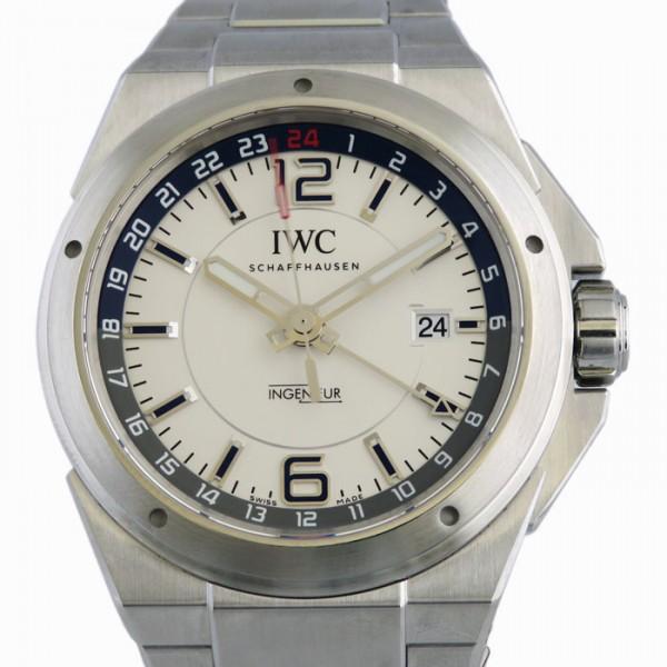 【期間限定ポイント5倍 5/5~5/31】 IWC IWC インヂュニア デュアルタイム IW324404 ホワイト文字盤 メンズ 腕時計 【新品】