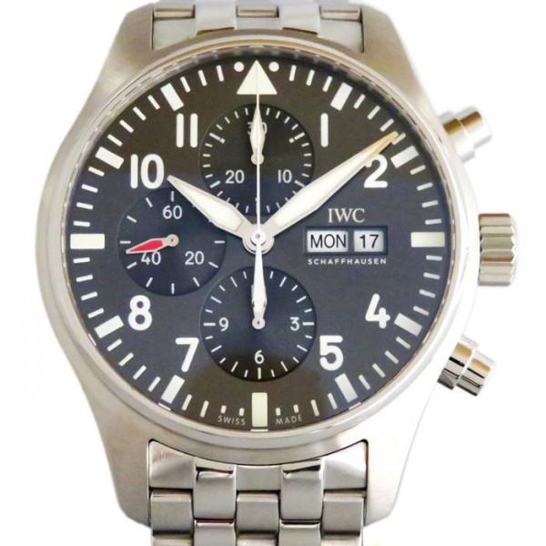 IWC IWC パイロットウォッチ クロノ オートマティック スピットファイア IW377719 グレー文字盤 メンズ 腕時計 【新品】