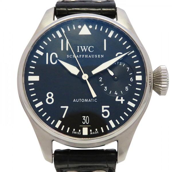 IWC IWC パイロットウォッチ ビッグパイロットウォッチ 7デイズ IW500401 ブラック文字盤 メンズ 腕時計 【中古】