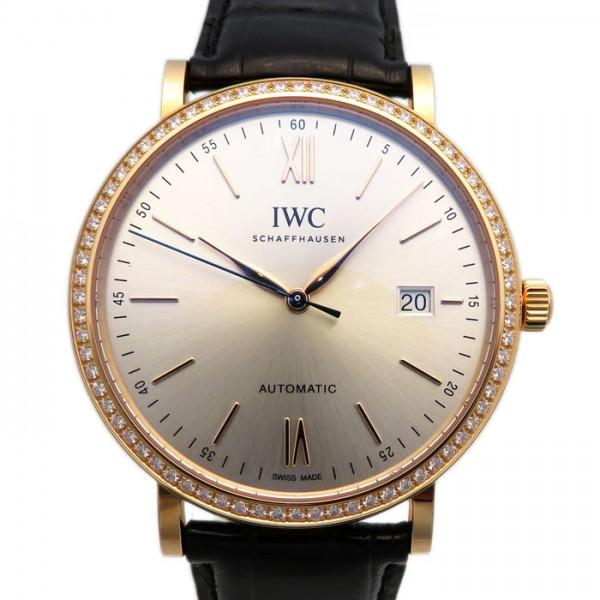 IWC IWC ポートフィノ オートマティック ベゼルダイヤ IW356515 シルバー文字盤 メンズ 腕時計 【新品】