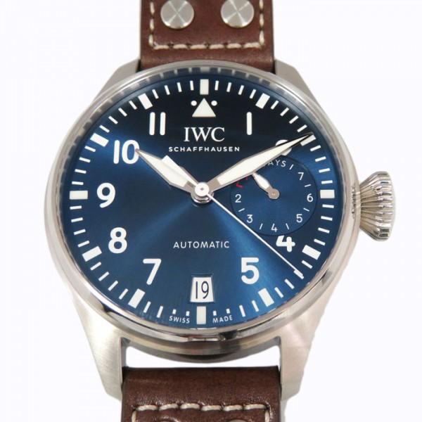 【期間限定ポイント5倍 5/5~5/31】 IWC IWC パイロットウォッチ ビックパイロットウォッチ プティフランス IW500916 ネイビー文字盤 メンズ 腕時計 【新品】