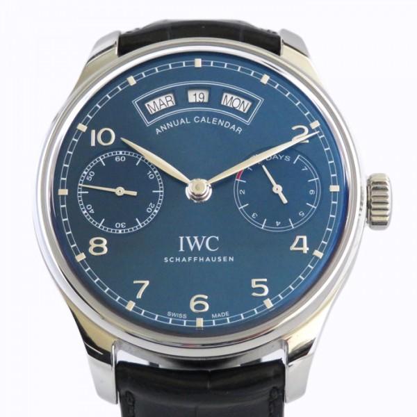 IWC IWC ポルトギーゼ アニュアルカレンダー IW503502 ネイビー文字盤 メンズ 腕時計 【新品】