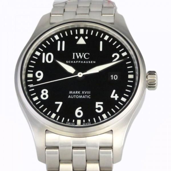 日本最大のブランド IWC マークXVIII パイロットウォッチ マークXVIII IW327011 ブラック文字盤 IW327011 新品 メンズ 腕時計 メンズ, Crazy Ferret:857aec7c --- promilahcn.com
