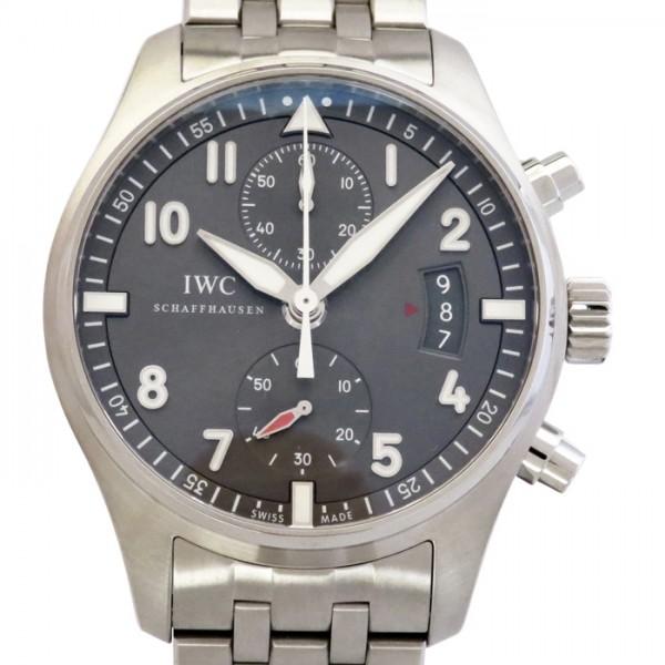 IWC IWC パイロットウォッチ スピットファイア クロノグラフ IW387804 グレー文字盤 メンズ 腕時計 【新品】
