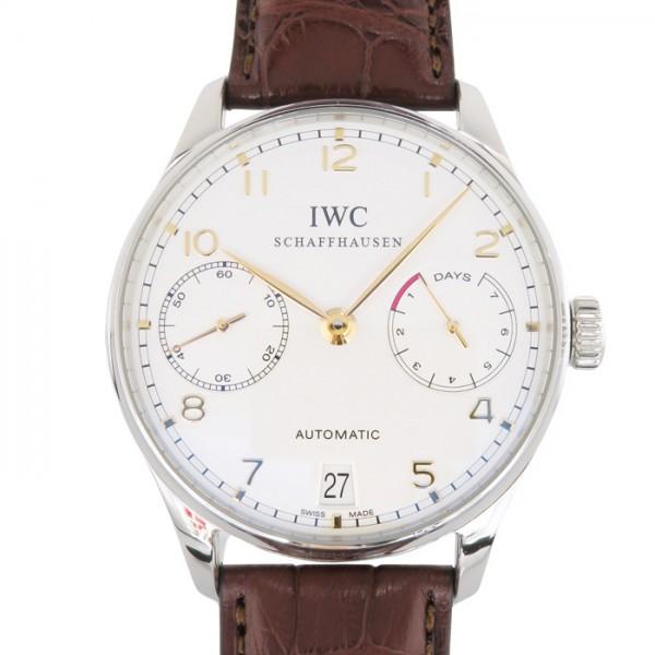 IWC IWC ポルトギーゼ 7デイズ IW500114 シルバー文字盤 メンズ 腕時計 【中古】