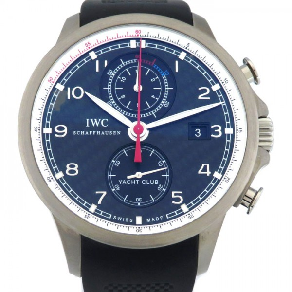 【期間限定ポイント5倍 5/5~5/31】 IWC IWC ポルトギーゼ ヨットクラブ ボルボオーシャンレース IW390212 ブラック文字盤 メンズ 腕時計 【新品】