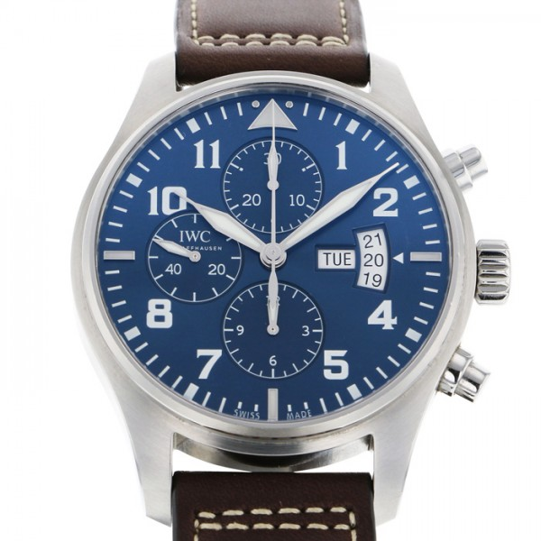 IWC IWC パイロットウォッチクロノ オートマチック プティプランス IW377706 ブルー文字盤 メンズ 腕時計 【未使用品】