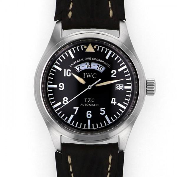 IWC ブラック文字盤 腕時計 フリーガーUTC IW325101 【中古】 パイロットウォッチ IWC メンズ