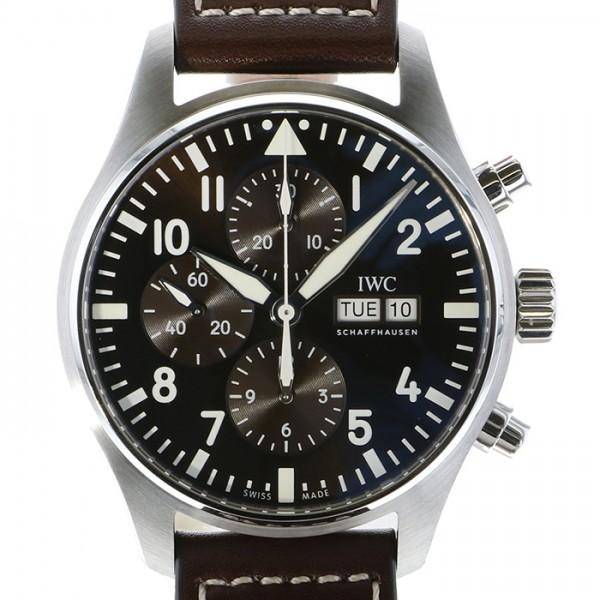 IWC IWC パイロットウォッチ クロノグラフ アントワーヌ・ド・サンテグジュペリ IW377713 ブラウン文字盤 メンズ 腕時計 【新品】
