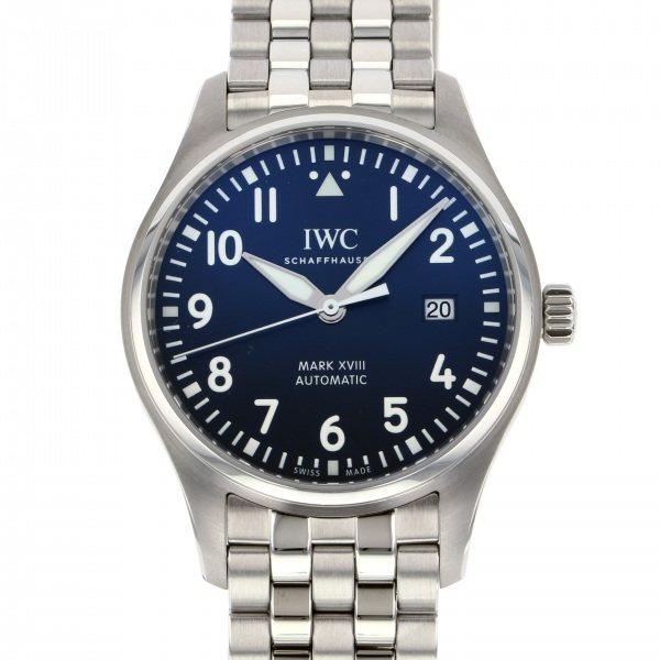 IWC IWC パイロットウォッチ マーク18 プティプランス IW327016 ブルー文字盤 メンズ 腕時計 【新品】
