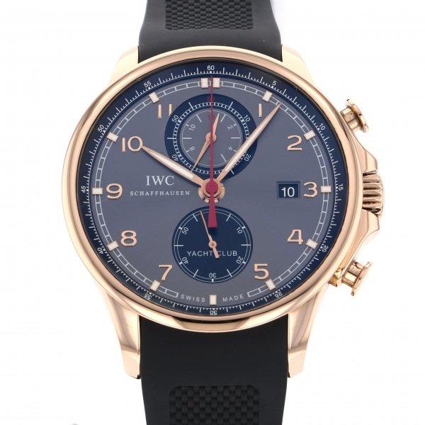 【全品 ポイント10倍 4/9~4/16】IWC IWC ポルトギーゼ ヨットクラブ クロノグラフ IW390209 グレー/ブラック文字盤 メンズ 腕時計 【中古】