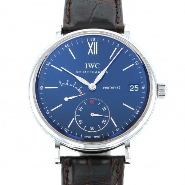 IWC IWC ポートフィノ ハンドワインド 8デイズ IW510102 ブラック文字盤 メンズ 腕時計 【中古】