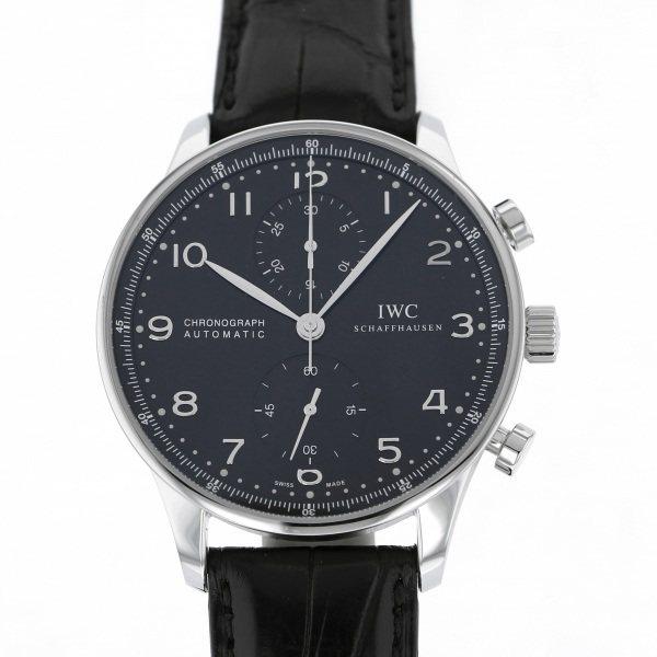 IWC IWC ポルトギーゼ クロノグラフ IW371447 ブラック文字盤 メンズ 腕時計 【中古】