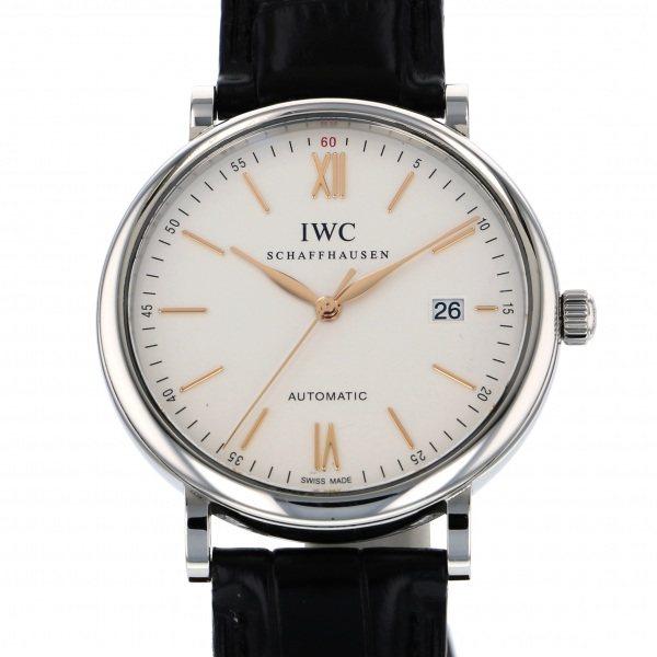 IWC IWC ポートフィノ IW356517 シルバー文字盤 メンズ 腕時計 【中古】