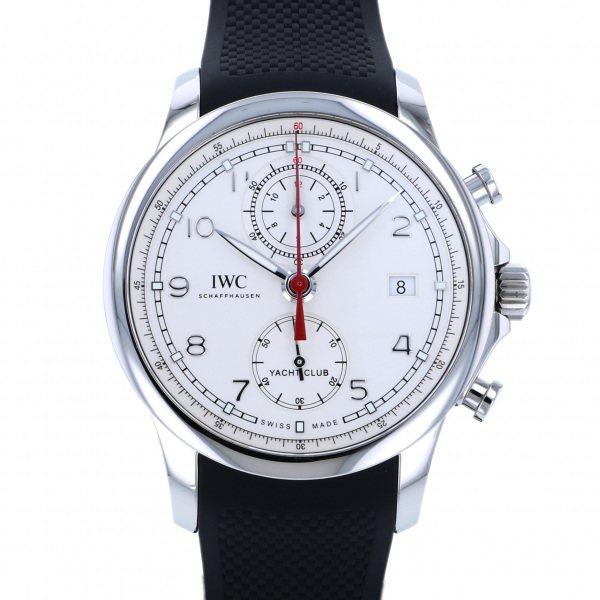 【期間限定ポイント5倍 5/5~5/31】 IWC IWC ポルトギーゼ ヨットクラブ クロノグラフ IW390502 ホワイト文字盤 メンズ 腕時計 【中古】
