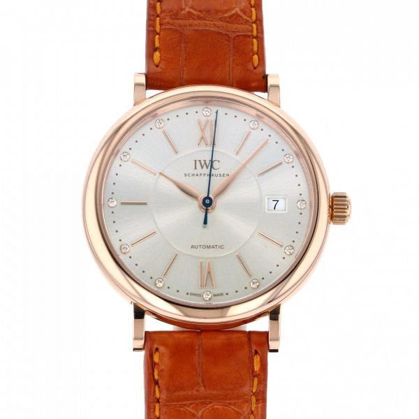 【期間限定ポイント5倍 5/5~5/31】 IWC IWC ポートフィノ ミッドサイズ IW458105 シルバー文字盤 レディース 腕時計 【新品】