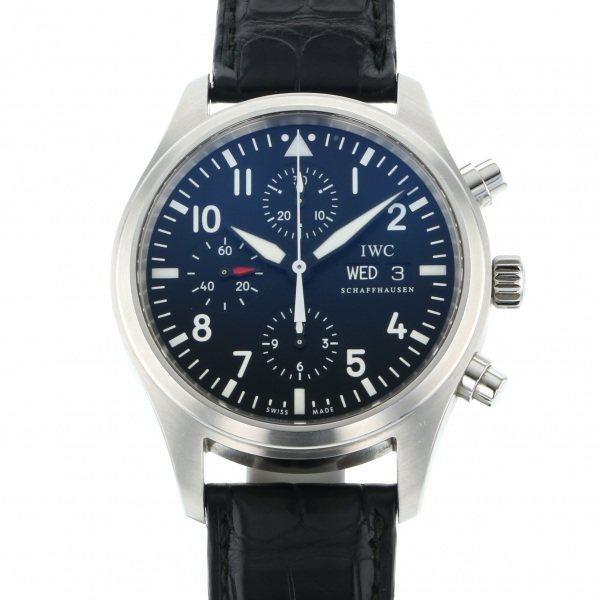 IWC IWC パイロットウォッチ クロノグラフ IW371701 ブラック文字盤 メンズ 腕時計 【中古】