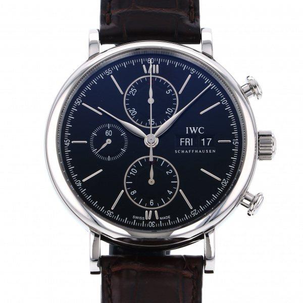 【期間限定ポイント5倍 5/5~5/31】 IWC IWC ポートフィノ クロノグラフ IW391008 ブラック文字盤 メンズ 腕時計 【中古】