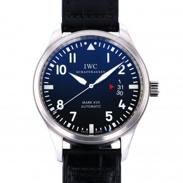 【期間限定ポイント5倍 5/5~5/31】 IWC IWC パイロットウォッチ マークXVII IW326501 ブラック文字盤 メンズ 腕時計 【中古】