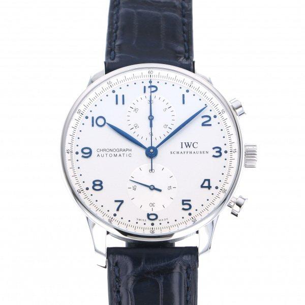 【期間限定ポイント5倍 5/5~5/31】 IWC IWC ポルトギーゼ クロノグラフ IW371446 シルバー文字盤 メンズ 腕時計 【新品】