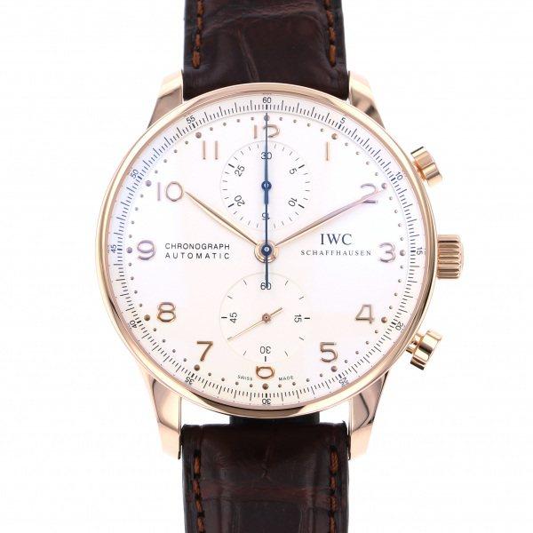 【期間限定ポイント5倍 5/5~5/31】 IWC IWC ポルトギーゼ クロノグラフ IW371480 シルバー文字盤 メンズ 腕時計 【新品】