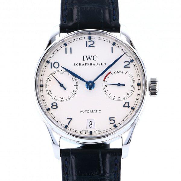 IWC IWC ポルトギーゼ オートマティック 7デイズ IW500107 シルバー文字盤 メンズ 腕時計 【中古】