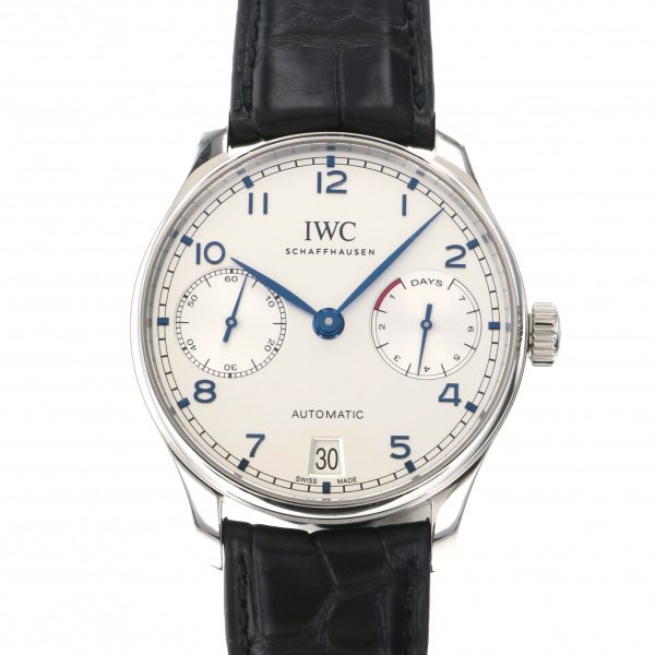 IWC IWC ポルトギーゼ オートマティック 7デイズ IW500705 ホワイト文字盤 メンズ 腕時計 【新品】