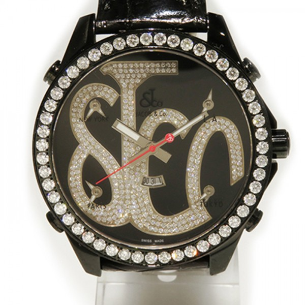 ジェイコブ JACOB&CO ファイブタイムゾーン JC-ATH3D ブラック文字盤 メンズ 腕時計 【新古品】