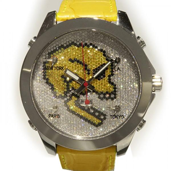 【全品 ポイント10倍 16日1:59まで 要エントリー】ジェイコブ JACOB&CO ファイブタイムゾーン スカル JC-SKULL2 全面ダイヤ文字盤 メンズ 腕時計 【新品】