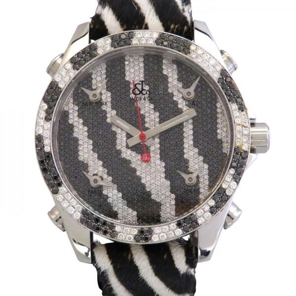 【期間限定ポイント5倍 5/5~5/31】 ジェイコブ JACOB&CO ファイブタイムゾーン ベゼルダイヤ JC-M65D 全面ダイヤ文字盤 メンズ 腕時計 【新品】