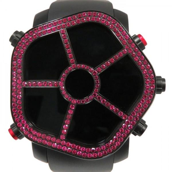 ジェイコブ JACOB&CO ゴースト ベゼルルビー JC-GST-RB ブラック文字盤 メンズ 腕時計 【新品】