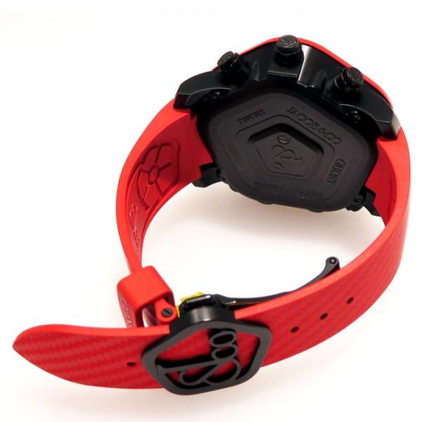 【全品 ポイント10倍 16日1:59まで 要エントリー】ジェイコブ JACOB&CO ゴースト JC-GST-CBNRD ブラック文字盤 メンズ 腕時計 【新品】