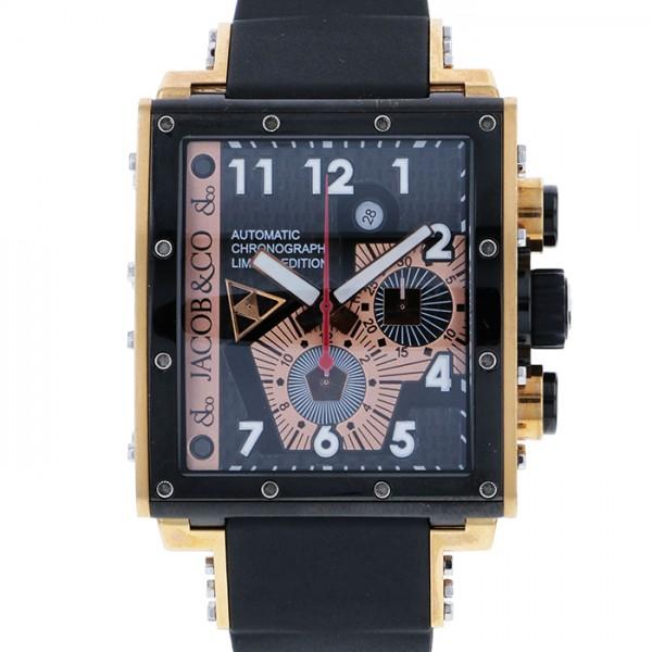 ジェイコブ JACOB&CO エピック I JC-V2Q8 ブラック文字盤 メンズ 腕時計 【中古】
