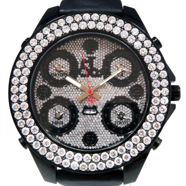 ジェイコブ JACOB&CO ファイブタイムゾーン ジャンボ ベゼルダイヤ JC-30JBD 全面ダイヤ文字盤 メンズ 腕時計 【新品】
