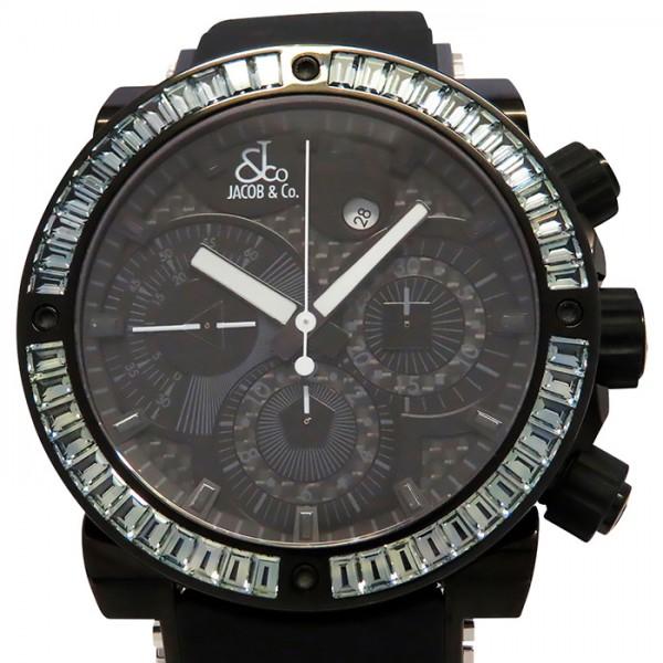 ジェイコブ JACOB&CO エピック II クロノグラフ ベゼルバケットブルートパーズ JC-E2CB-B ブラック文字盤 メンズ 腕時計 【中古】