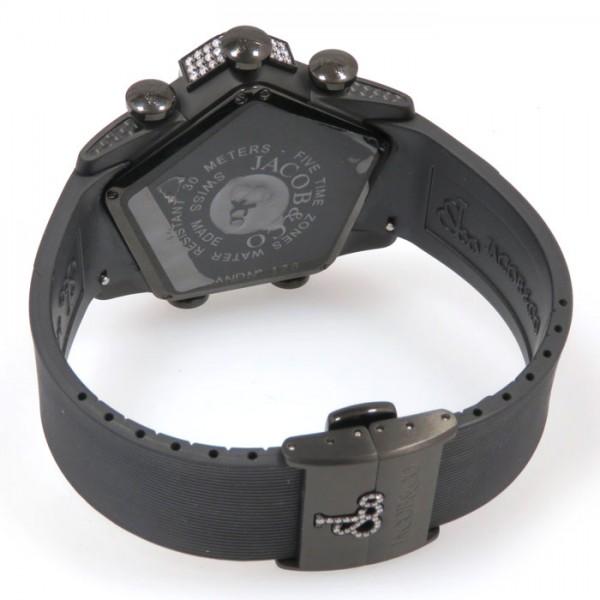 【全品 ポイント10倍 16日1:59まで 要エントリー】ジェイコブ JACOB&CO その他 グランド ケースダイヤ JC-GR5-20 ブラック文字盤 メンズ 腕時計 【新品】