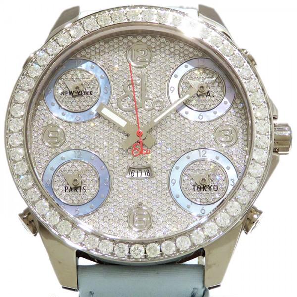 ジェイコブ JACOB&CO ファイブタイムゾーン ベゼルダイヤ JC-308D 全面ダイヤ文字盤 メンズ 腕時計 【新品】