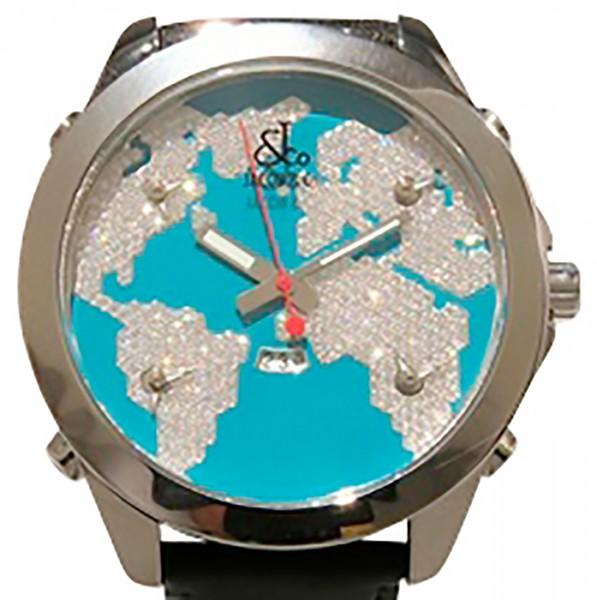ジェイコブ JACOB&CO ファイブタイムゾーン JC-47STQ ライトブルー文字盤 メンズ 腕時計 【新品】