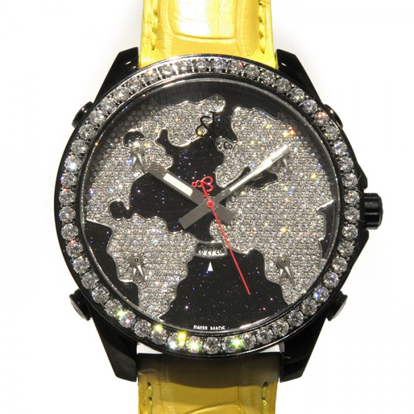ジェイコブ JACOB&CO ファイブタイムゾーン ベゼルダイヤ JC-47STBD 全面ダイヤ文字盤 メンズ 腕時計 【新品】