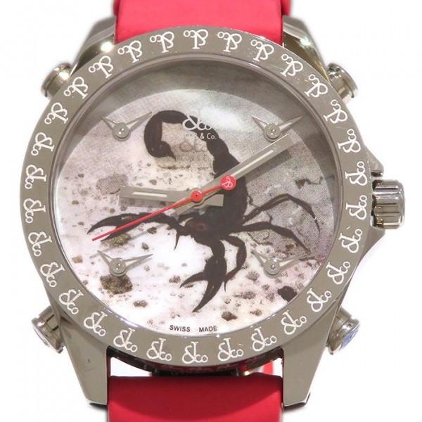 ジェイコブ JACOB&CO ファイブタイムゾーン JCM-109 マルチカラー文字盤 メンズ 腕時計 【新品】