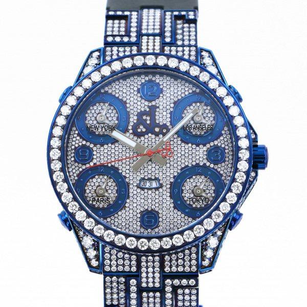 ジェイコブ JACOB&CO ファイブタイムゾーン ケースダイヤ JC-30BDCBL 全面ダイヤ文字盤 メンズ 腕時計 【中古】