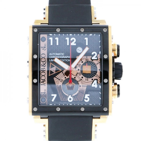 ジェイコブ JACOB&CO エピック I JC-V2Q8 ブラック/ゴールド文字盤 メンズ 腕時計 【中古】