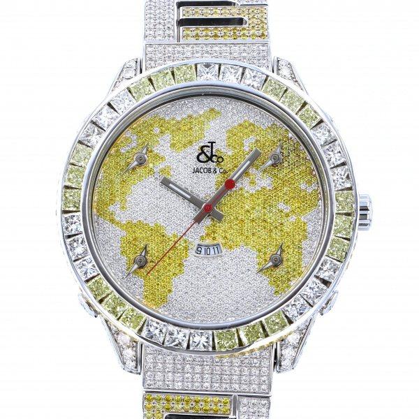 ジェイコブ JACOB&CO ファイブタイムゾーン ベゼルバケットダイヤ・ブレスダイヤ - 全面ダイヤ文字盤 メンズ 腕時計 【中古】