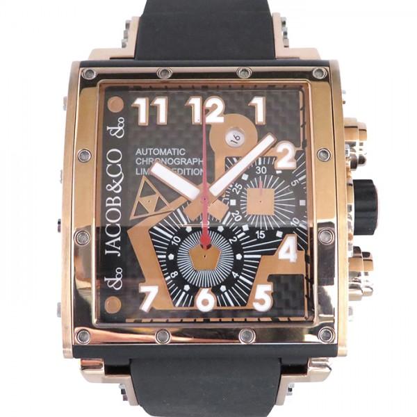 ジェイコブ JACOB&CO エピック I JC-V2Q3RGI ブラック/ゴールド文字盤 メンズ 腕時計 【中古】