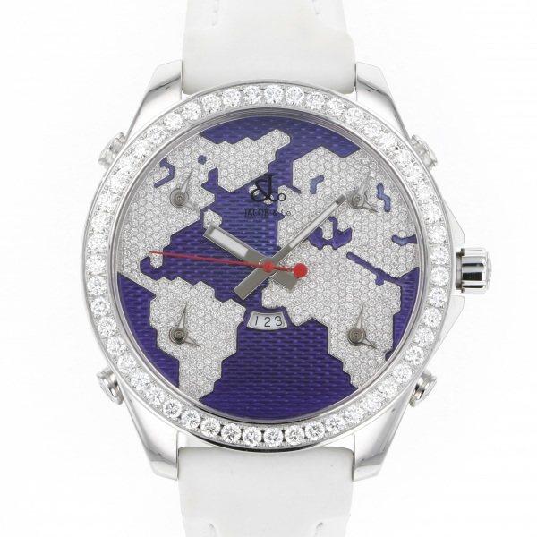 ジェイコブ JACOB&CO ファイブタイムゾーン JC-47SB パープル文字盤 メンズ 腕時計 【中古】