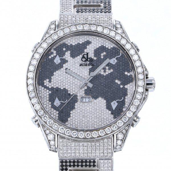 ジェイコブ JACOB&CO ファイブタイムゾーン ワールドマップ - 全面ダイヤ文字盤 メンズ 腕時計 【中古】