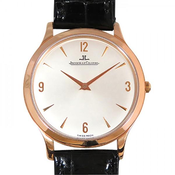 【全品 ポイント10倍 4/9~4/16】ジャガー・ルクルト JAEGER LE COULTRE マスター ウルトラスリム Q1452420 シルバー文字盤 メンズ 腕時計 【中古】