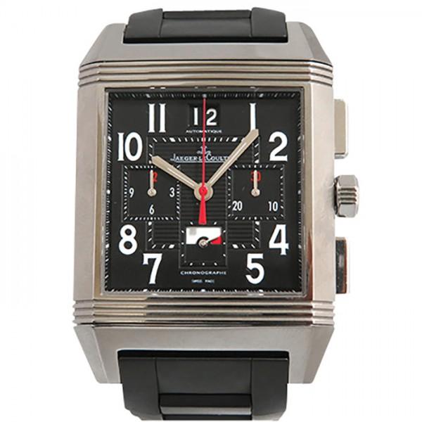 ジャガー・ルクルト JAEGER LE COULTRE レベルソ スクアドラ ワールド クロノグラフ Q702T670 ブラック文字盤 メンズ 腕時計 【中古】