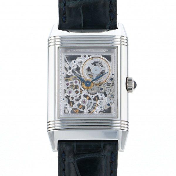ジャガー・ルクルト JAEGER LE COULTRE レベルソ プラチナ 世界限定500本 270.6.49 シルバー文字盤 メンズ 腕時計 【中古】